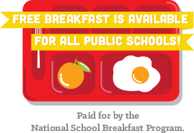 Breakfast is available for every public school in Illinois, Fully funded through the federal government.4