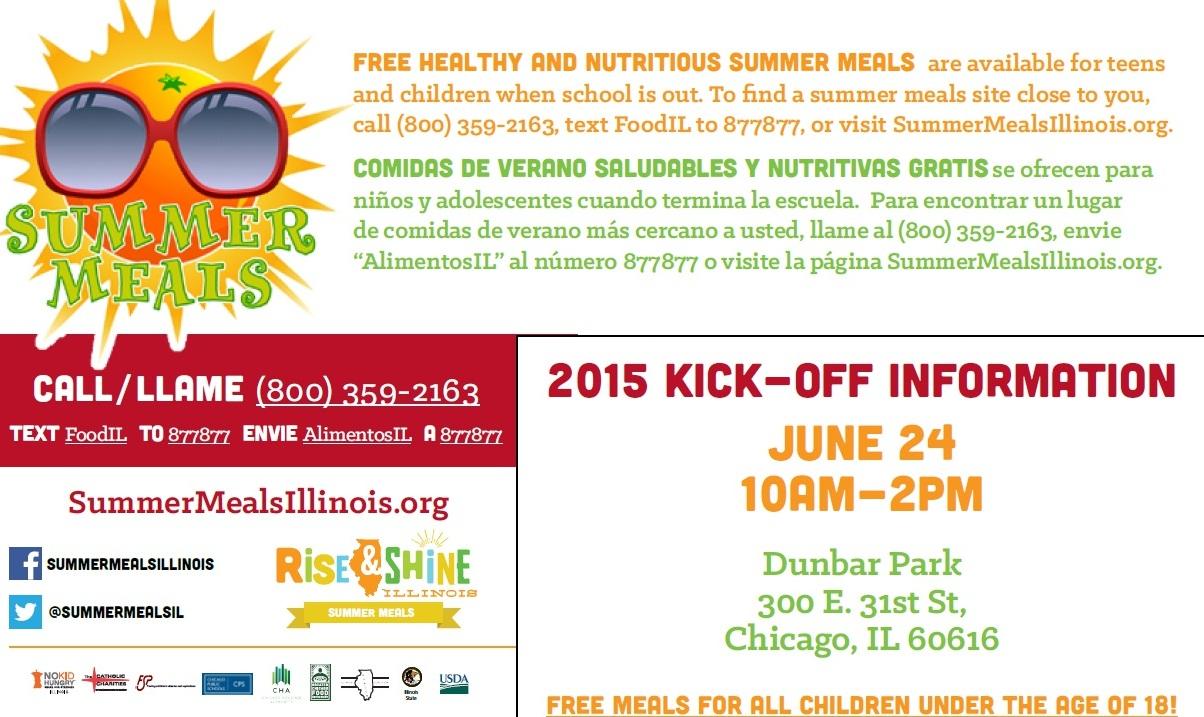 Summer Meals Kickoff Flyer